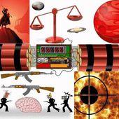 Quand la Balance signe de la paix, amour et justice devient la guerre avec Mars carré Saturne/Pluton