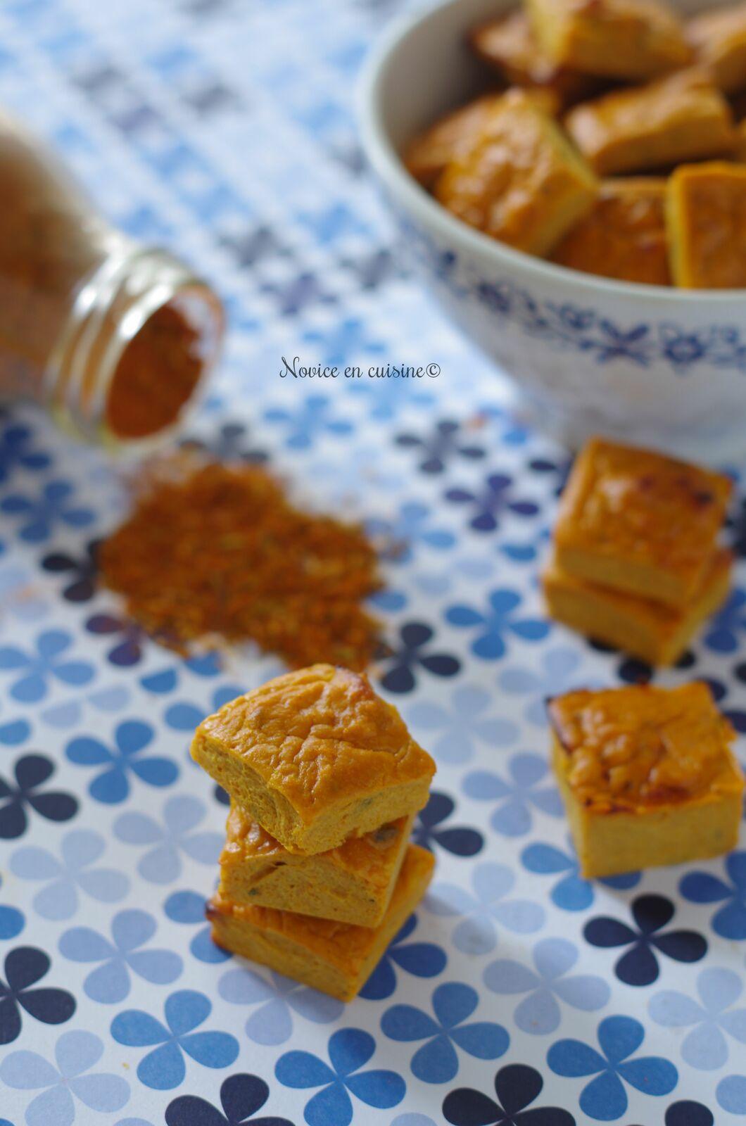 Minis cubes au thon et aux épices