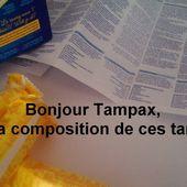 Rendre visible la composition des tampons et serviettes hygièniques.
