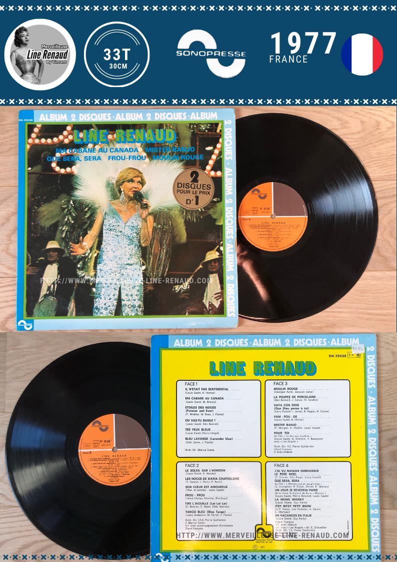 33 TOURS: 1977 Sonopress/Pathé - DA 35538 - Album  2 Disques