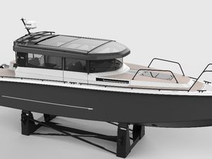 Le XO Boats 360 Cabin : un design post-moderne très pur, unique en son genre.