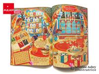 Extraits d'un cahier de 11 pages de jeux sur les Princesses des 1001 nuits - Manon Joue - 2007