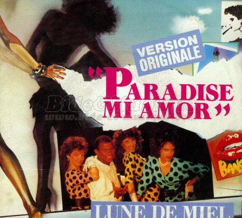 lune de miel, un groupe français créé en 1984 par le producteur Frédéric Partouche avec jean de franvil entouré de 3 choristes et danseuses Patricia Archie, Jill et Soledad