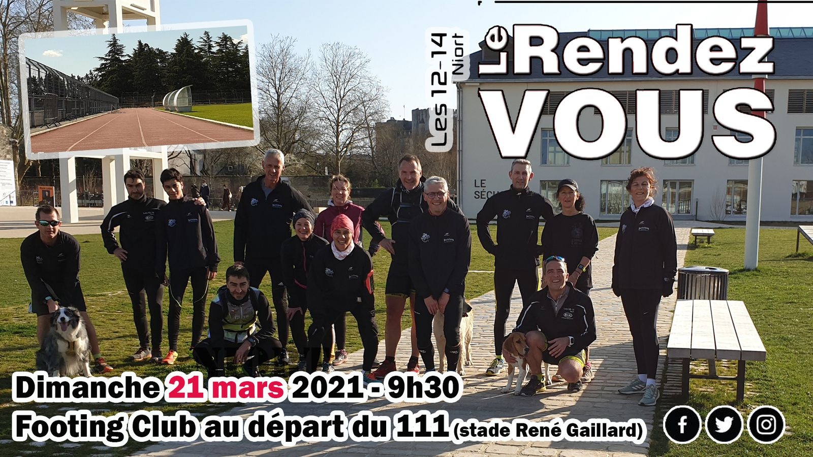 Footing du CLUB du WE - LES 12-14 NIORT