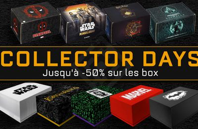 Bon Plan : 23 box Geek en promotion pour les Wootbox Collector Days