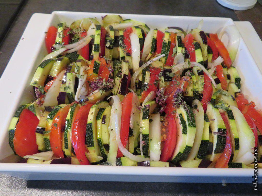 Un tian réalisé uniquement avec des légumes.