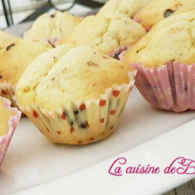 Muffins à l'orange et aux pépites de chocolats