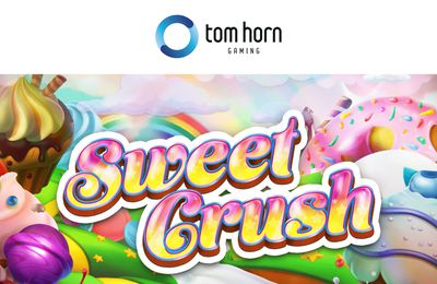 Des friandises alléchantes dans la machine à sous mobile Sweet Crush de Tom Horn Gaming