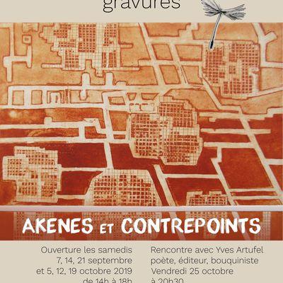 Akenes et contrepoints - Exposition de gravures de Danièle Gay