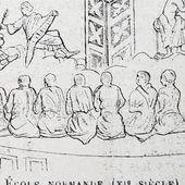 L'école normande (XIe siècle), d'après une miniature (Wright)