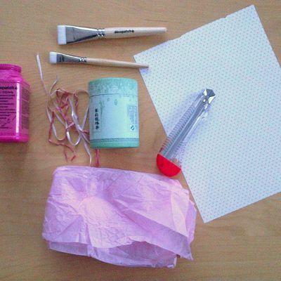 DIY : transformer une boîte à thé en boîte à cotons