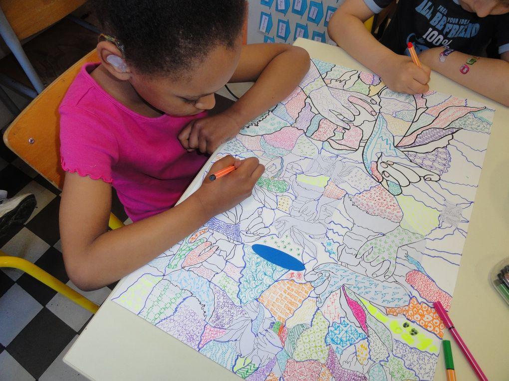 Arts visuels en CP à l'école A. France