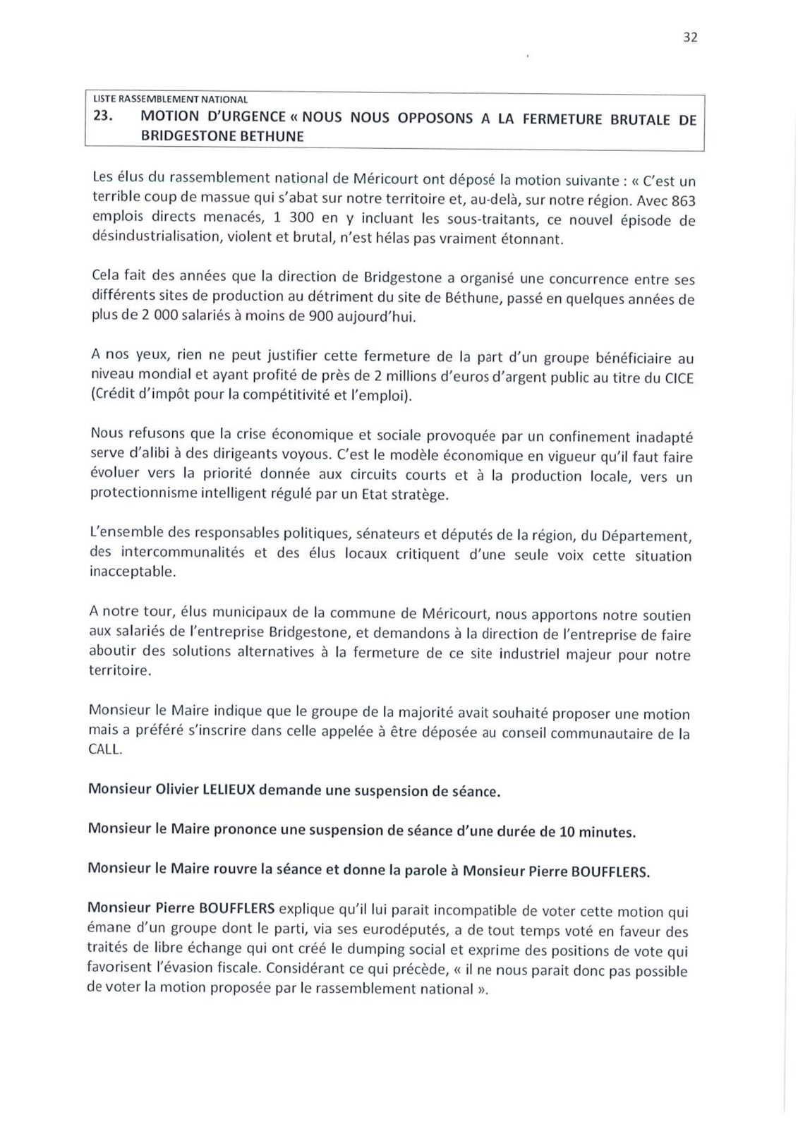 Conseil municipal de Méricourt du 23 septembre 2020 : le compte-rendu officiel est en ligne