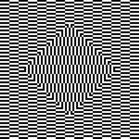 fond de petits rectangles et région centrale en forme de carré