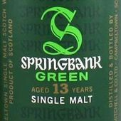 Springbank 13Y Green. - Passion du Whisky