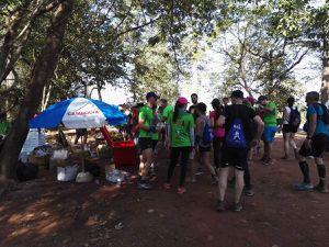 Marche Nordique 16 km de l'Ultra Trail Angkor en Janvier 2018.