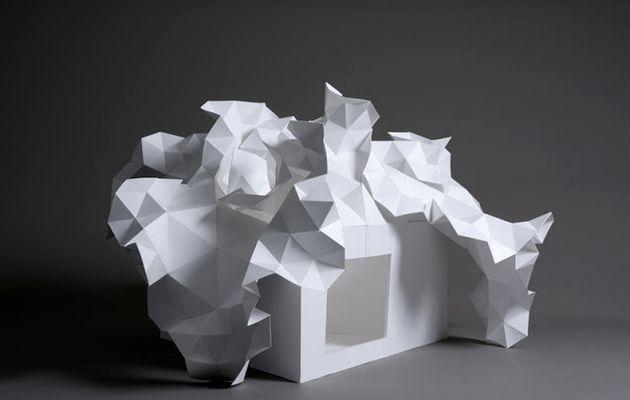 """Projet APL /   ARCHITECTURE 3e  /  Une architecture """"Pli -Lumière"""""""