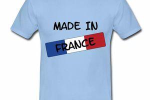 T shirt bleu blanc rouge Drapeau Français made in France HBC