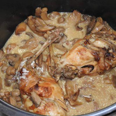 Lapin au vin blanc et champignons au cookeo