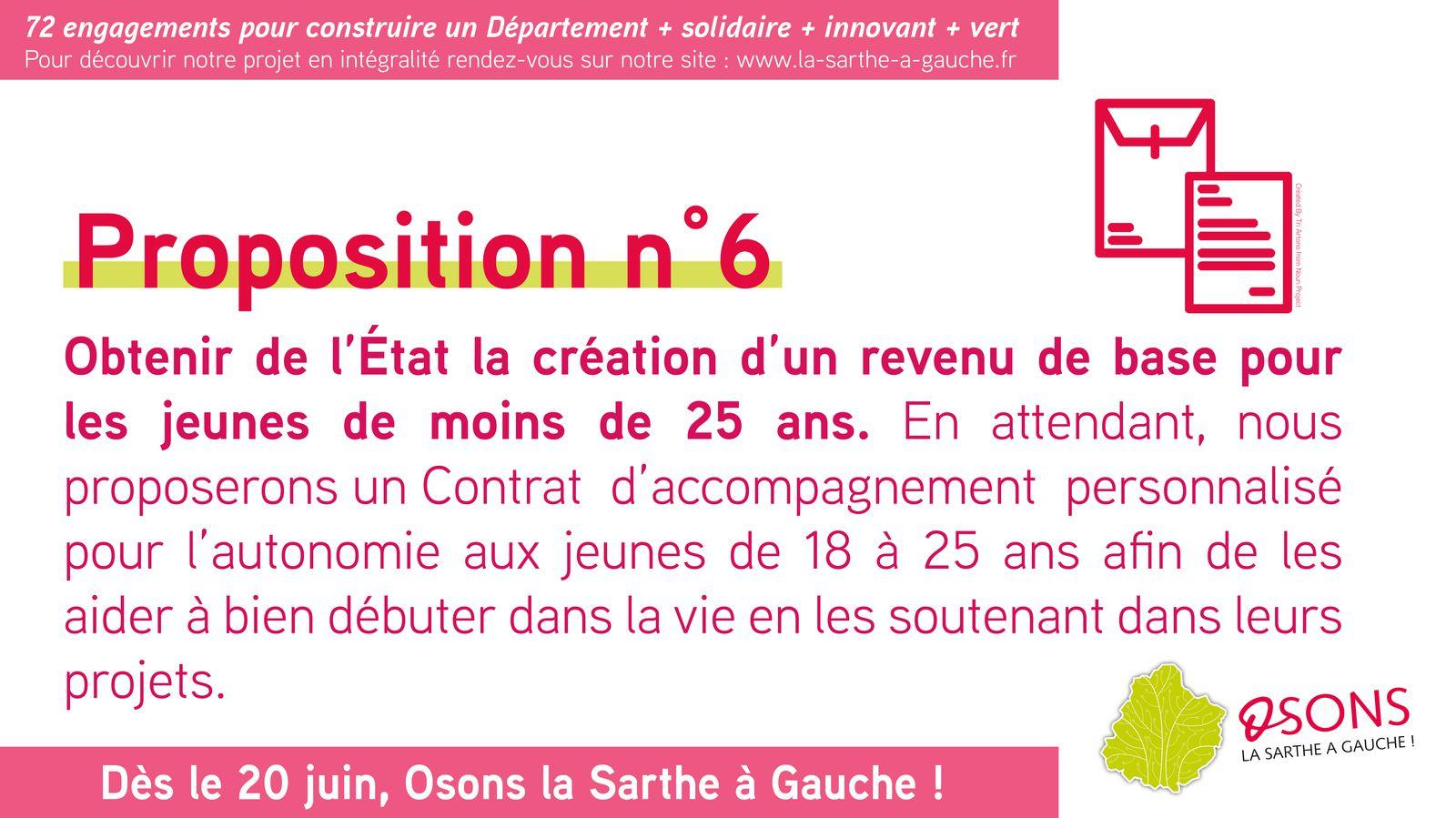 12 grandes propositions pour la Sarthe : notre engagement n°6
