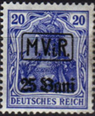 Fig 25: Timbres d'occupation allemande en Lituanie et Roumanie.