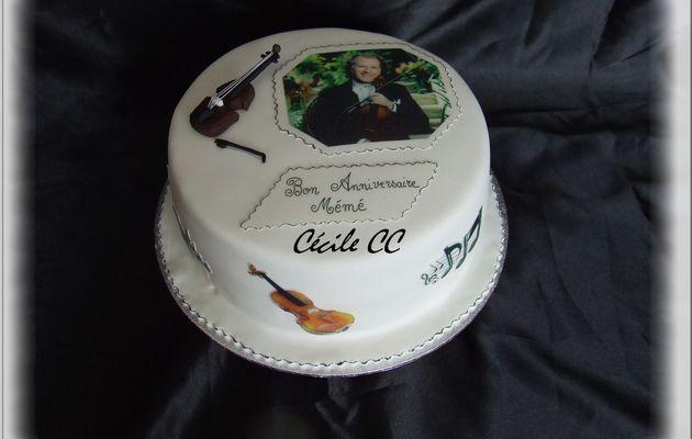 Un gâteau pour une fan de violon...