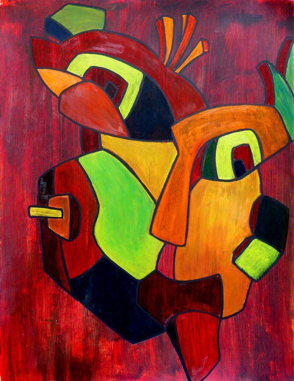 2 peintures de Jocelyne Hassel