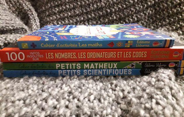 Cahiers d'activités avec les maths et les sciences de chez Usborne