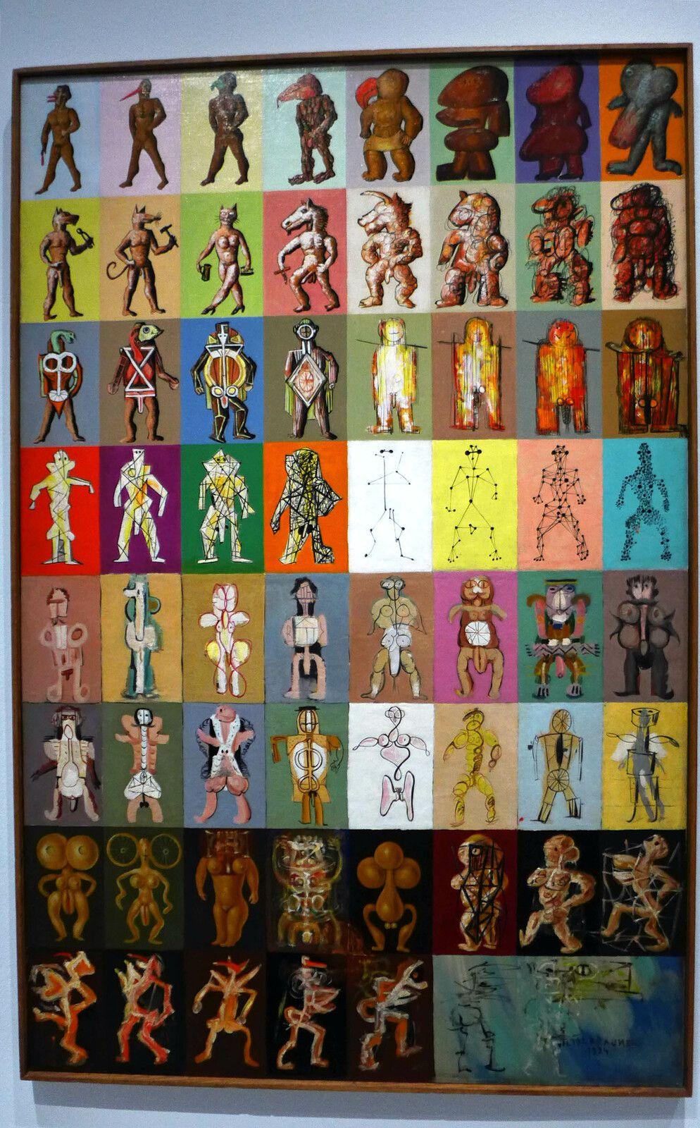 Morphologie de l'homme, huile sur toile, 1934. Collection particulière.