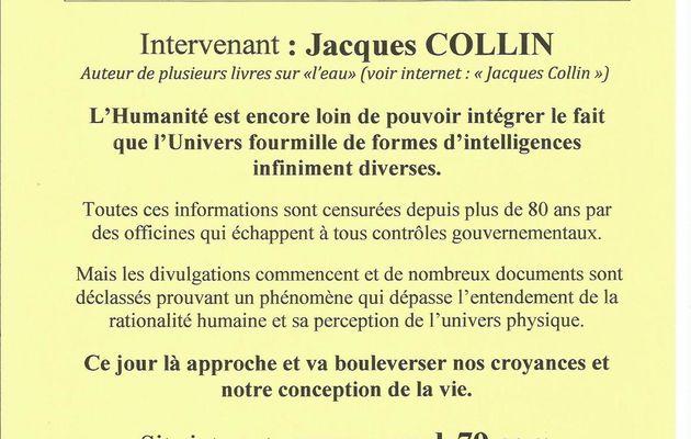 Conférence avec Jacques Collin à Niort le 26 novembre