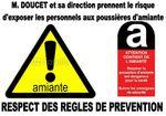 Alerte amiante ! Risque de danger pour la santé des personnels et des personnes susceptibles de pénétrer dans les locaux du siège