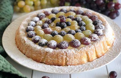 Crostata morbida con Crema Pasticciera e Uva