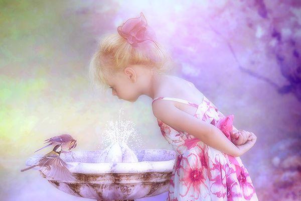 Enfant et oiseaux...