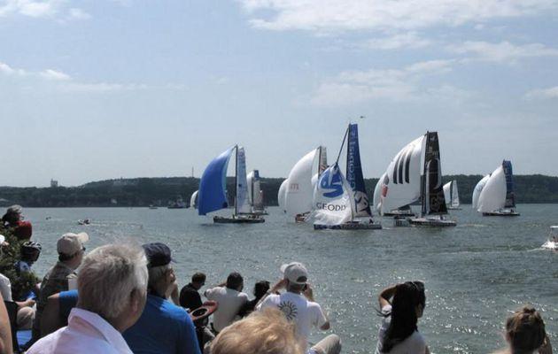 28 voiliers au départ de la Transat Québec Saint-Malo