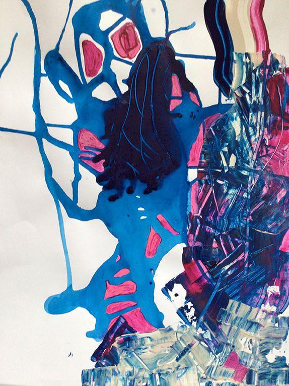 Josée Moritz - 2 variations à partir du point 20 de la peinture en neuf mois