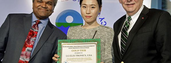 EPA Honors LG Electronics at CES with Top-Level Gold Award in Electronics Recycling Challenge