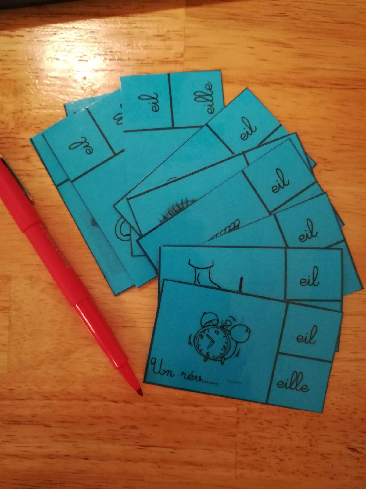 Orthographe CE2 - Cartes à pinces - 👂 [ill]