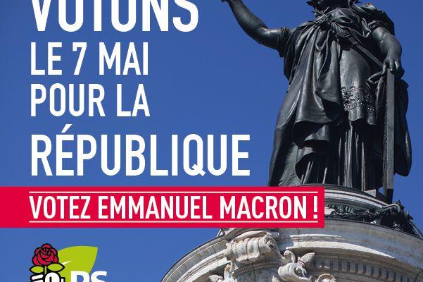 Le 7 mai, je vote Macron.