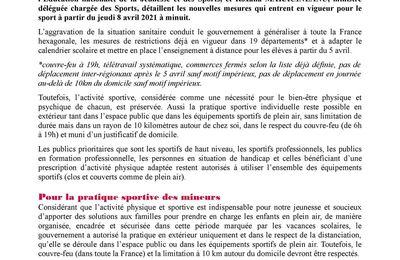 Bmx et 3e confinement : fédération et ministère (08/04)