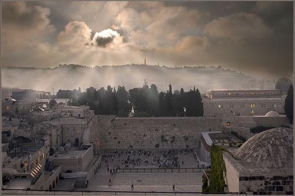 Ciel gris à Jérusalem.