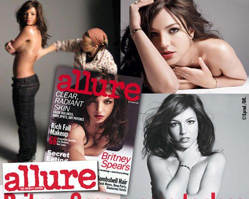 ALLURE : Britney Spears pose topless