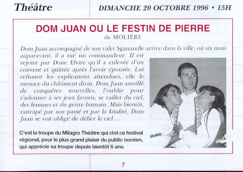 Dom Juan de Molière- mise en scène S. Mounié - Neuilly-Plaisance. (1997)
