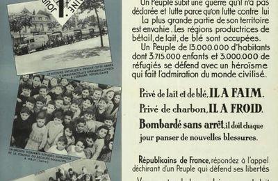 """affiche du Secours socialiste""""Noël d'Espagne"""" (1938)"""