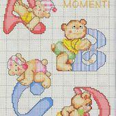 ♥Meus Gráficos De Ponto Cruz♥: Alfabeto Ursinhos para Bebês em Ponto Cruz