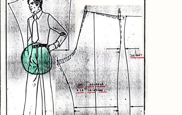 BTIH, Retouche pantalon : Manque de montant dos.