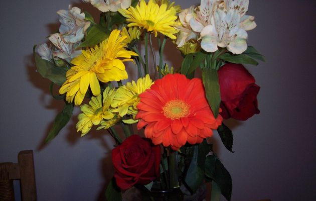 Joli bouquet de fleur...en ce jour