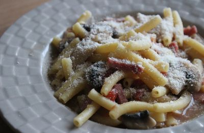 ONE POT PASTA BACON PARMESAN