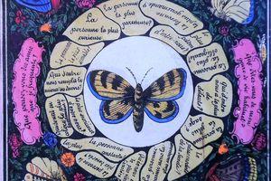 les papillons de Victor, sympathiques et magnétiques!