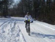 Même pas peur de la neige nos vététistes !