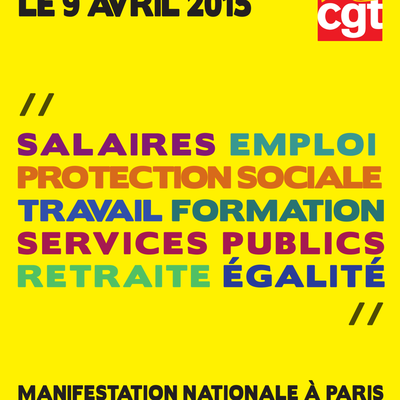 Mobilisation du 9 Avril 2015.